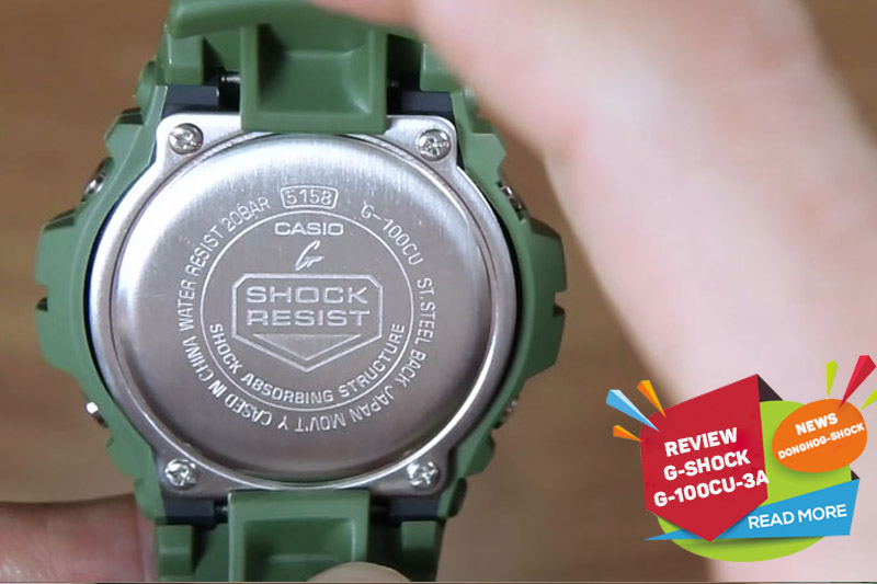 Review đồng hồ Casio G-Shock G-100CU-3A thanh lịch