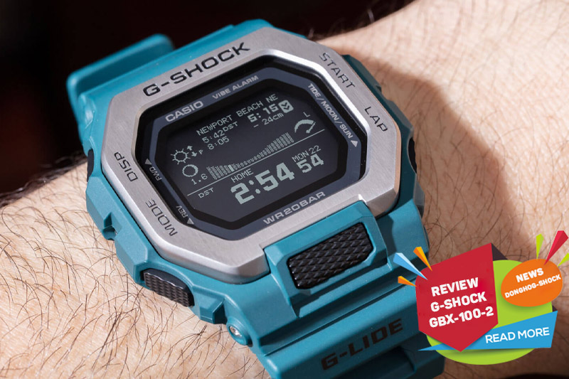 Review đồng hồ Casio G-Shock G-Lide GBX-100-2